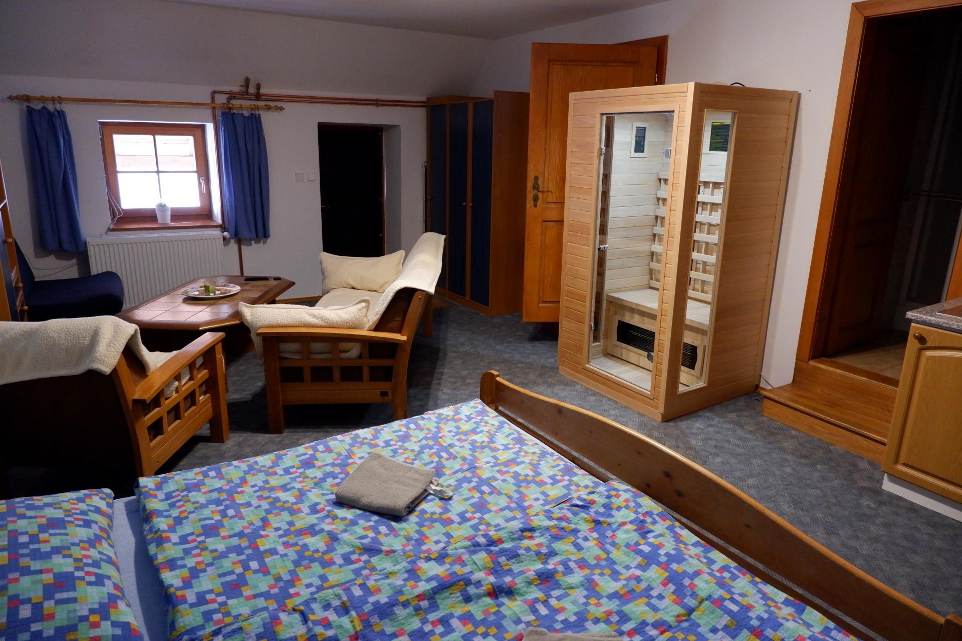 Infra sauna apartmán 2.
